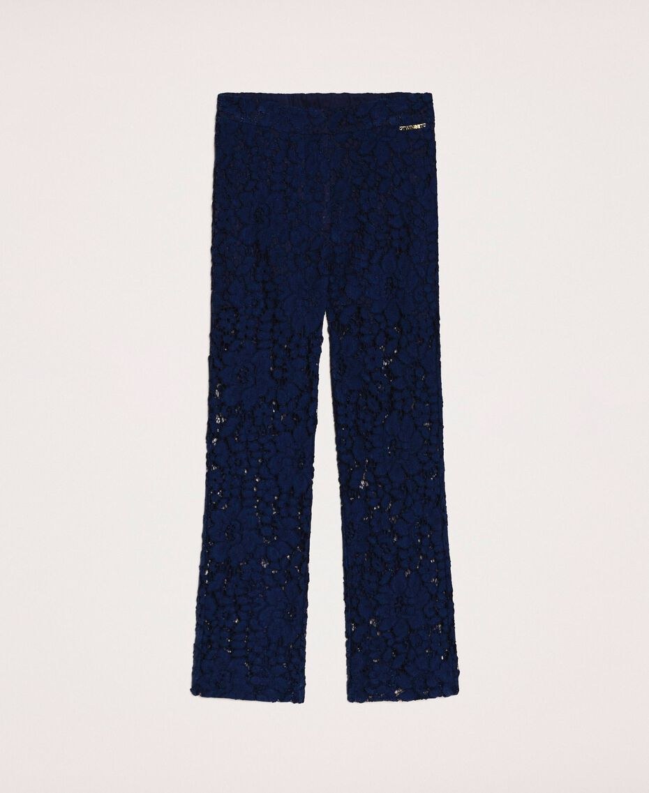 Macramé lace trousers Night Blue Child 201GJ2QL0-0S