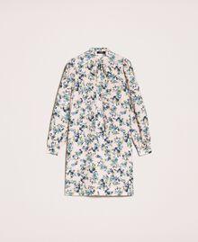 """Floral crêpe de Chine dress """"Quartz"""" Pink Flowered Print Woman 201MP2374-0S"""