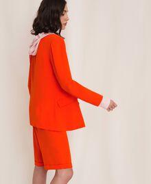 "Georgette blazer ""Ace"" Orange Woman 201LL2NHH-02"