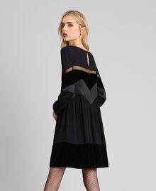 Robe avec détails en velours Noir Femme 192TT2281-03