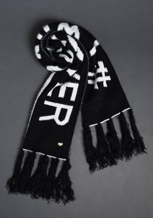 Two-tone fur effect scarf