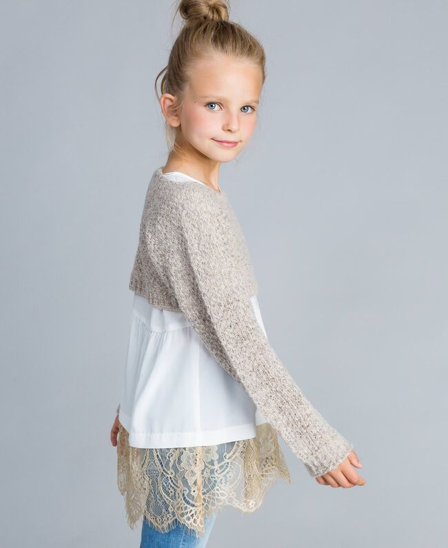 Pull court en lurex Or Lurex Enfant GA83FN-03