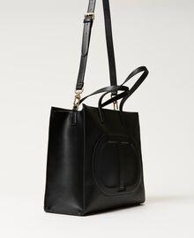 Twinset Bag im Shopperformat mit Logo Schwarz Frau 211TD8080-02