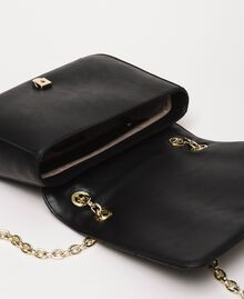 Faux leather shoulder bag with charms Black Woman 201MA7043-05