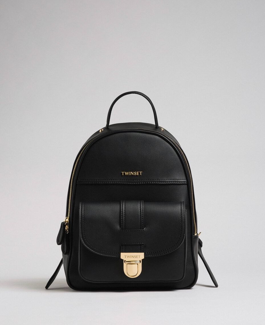 Faux leather backpack Black Woman 192TA7133-02