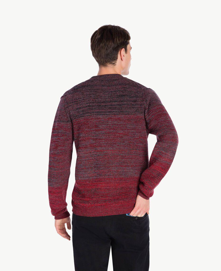 Cardigan laine Rouge Dégradé UA73B2-02
