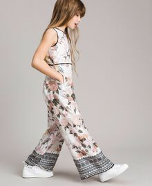 Floral viscose jumpsuit with lace print Ramage Butterfly Print Child 191GJ2523-03