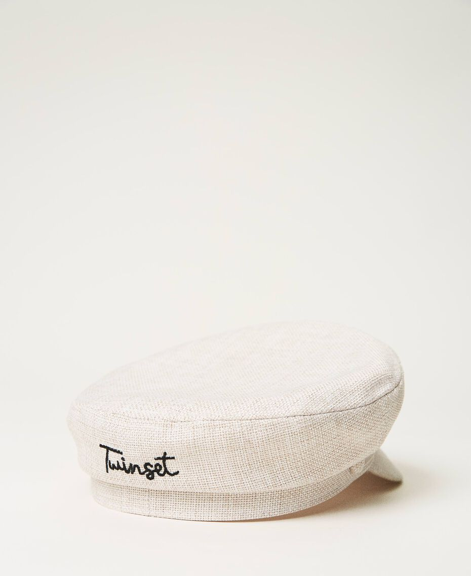 Canvas cap with visor Beige Cremino Woman 211LM4ZSS-03