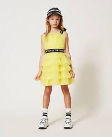 "Tulle dress with belt ""Sunny Lemon"" Yellow Child 211GJ2Q8B-01"