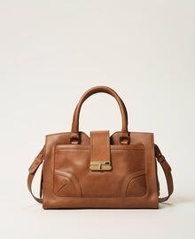 Shopper aus Leder mit Schnalle Leder Frau 202TB7124-03