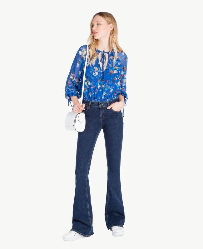 Printed blouse Multicolour Lapis Blue Flowers Woman JS82NN-05