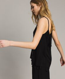 Top with striped sequins Black Woman 191LM2CAA-02