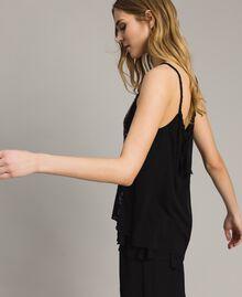 Top avec paillettes rayées Noir Femme 191LM2CAA-02