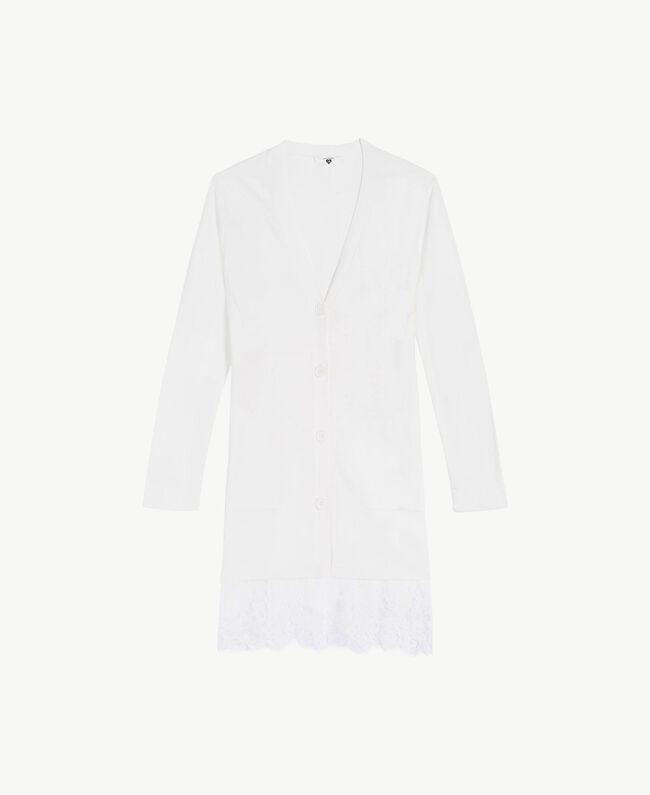 Cardigan long coton Ivoire Femme LS8CBB-01