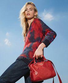Bauletto-Tasche aus Lederimitat Kirsch Rot Frau 202MA7022-0S