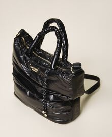 Quilted shopper with logo Black Woman 202MO8021-03