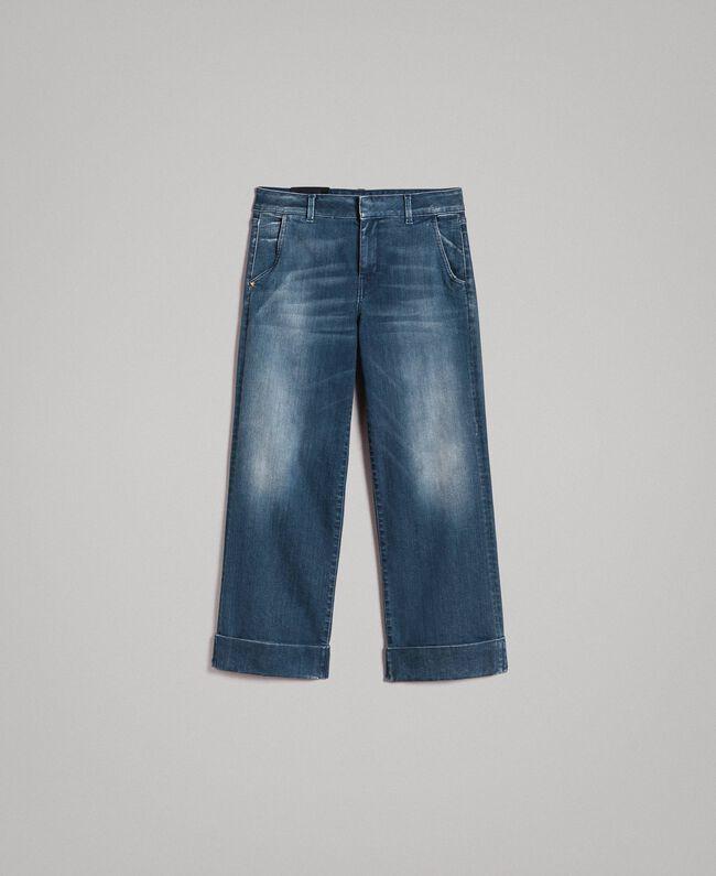 cbc352498aeda Pantalones chinos vaqueros con efecto degradado Denim Azul Mujer  191MP2478-0S