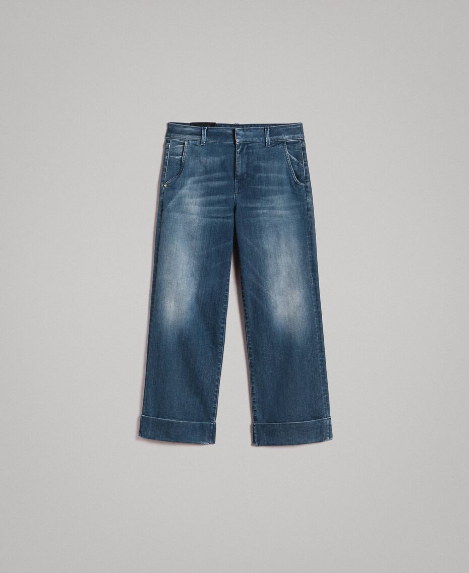 Chino-Jeans mit Fade-out-Waschung Denimblau Frau 191MP2478-0S