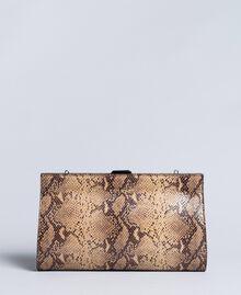 Animal print leather clutch bag Camel Snake Print Woman AA8PMA-01