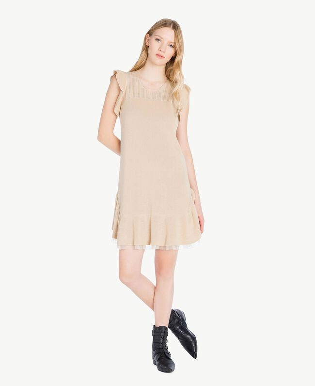 Openwork dress Ecrù Woman PS8311-01