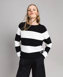 Striped top with heart detail Multicolour Pastel Colour Woman 191MP3011-01