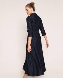 Long denim shirt dress Denim Blue Woman 201MP2401-04