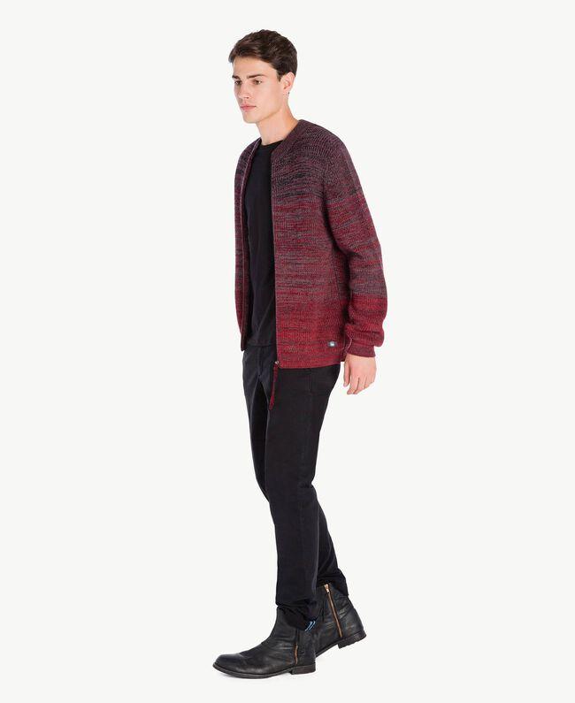 Cardigan laine Rouge Dégradé UA73B2-01