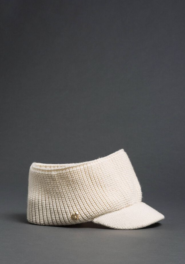 Knit headband with visor