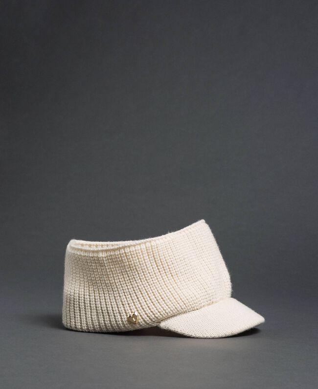 Fascia in maglia con visiera Bianco Vaniglia Donna 192MO5302-01