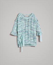 """Pull ajouré avec rubans Multicolore Fantaisie Bleu """"Mikonos"""" Femme 191TP3281-0S"""