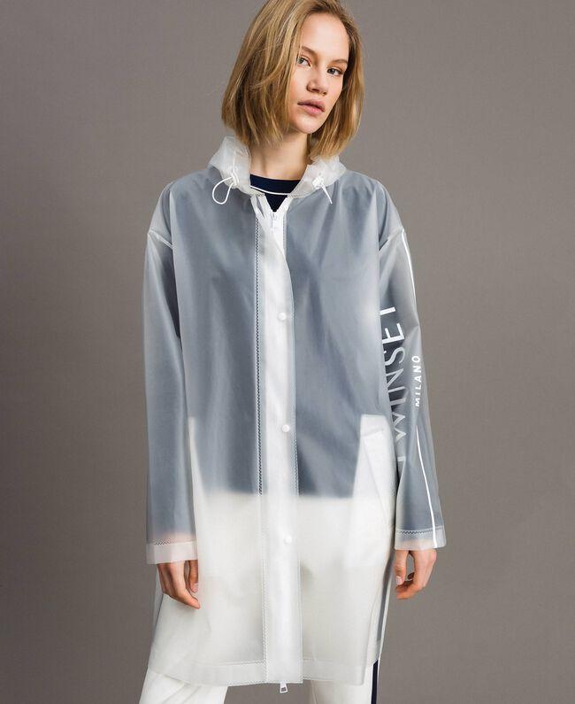 Imperméable avec logo Blanc Soie Opaque Femme 191TP2030-04