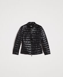 Quilted puffer jacket Black Woman 191LL24CC-0S