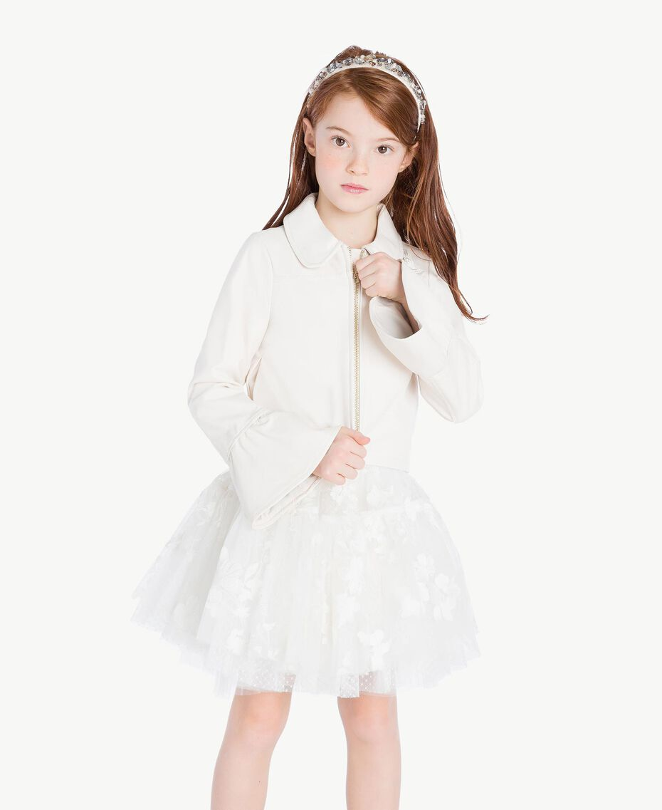 Embroidered jacket Pale Cream Child GS8LFN-02