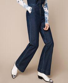 Denim jumpsuit with zip Denim Blue Woman 201MT2196-04