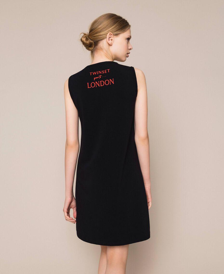 Camicia da notte con stampa Rosso Melograno Donna 201LL26AA-03