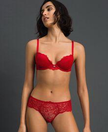 Culotte brésilienne en dentelle Rouge Ardent Femme 192LL6C77-02