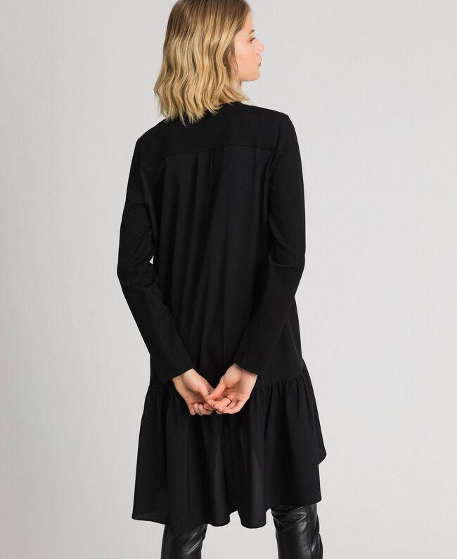Robe avec volant asymétrique Noir Femme 192TP2640-03