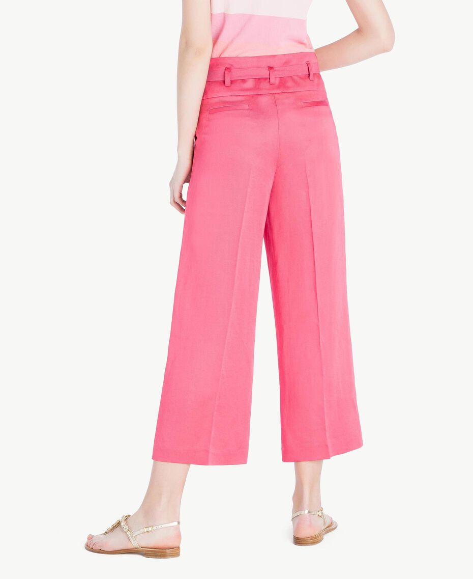 Envers satin trousers Provocateur Pink Woman TS823P-03