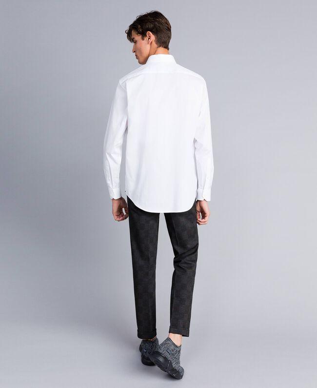Camicia in cotone stretch Madreperla Uomo UA82EN-03