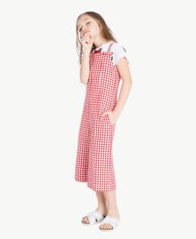 Gingham jumpsuit Gingham / Pomegranate Red Jacquard Child GS82ZD-03