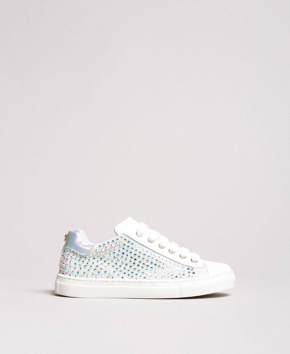 Leder-Sneakers mit Strass Chantily Kind 191GCJ070-02
