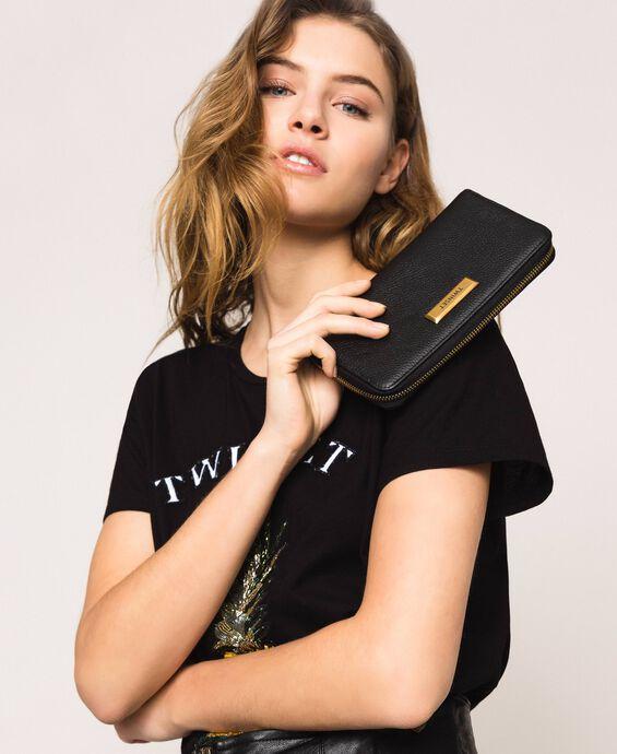 Bea Bag Geldbörse aus Leder mit Rundumreißverschluss