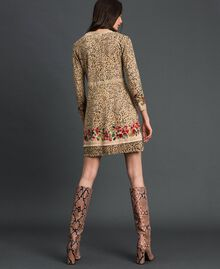 Knit dress with animal and floral print Leo / Flower Mix Print Woman 192TP3360-03