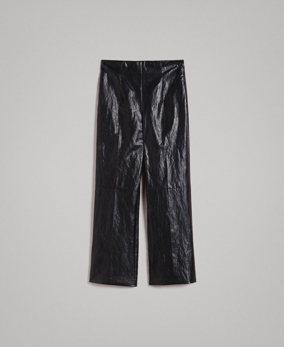 Pantaloni in similpelle Nero Donna 191TP2550-0S