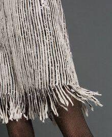 Robe en crêpe georgette avec sequins et franges Broderie Sequins Or Foncé Femme 192TT2482-04