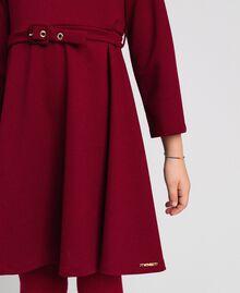 Vestido de crepé con cinturón Rojo Vino rubí Niño 192GJ2452-04