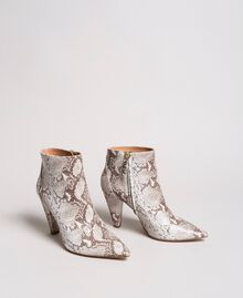 Leather ankle boots Ice Python Print Woman 191TCP13C-03