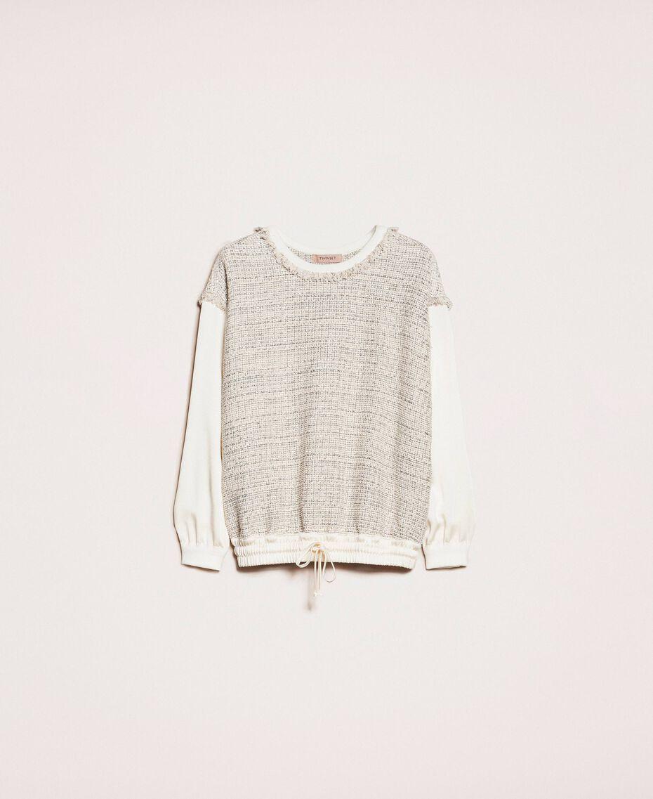 Blouse en tissu bouclé Multicolore Ivoire / Gris «Argent» Femme 201TP2230-0S