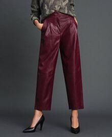 Широкие брюки из искусственной кожи Красный Бархат женщина 192TT203C-02
