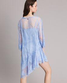 Robe asymétrique en dentelle de Chantilly Bleu Clair Atmosphere Femme 191ST2120-03